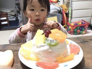 2歳 誕生日ケーキ